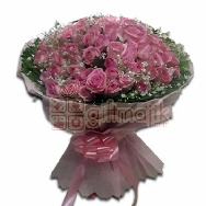 Send Pink Roses 100 Sweet Luxury bunch suited for love occasion